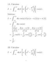 Homework Solution on Dirac Delta Function