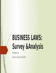 BUSINESS LAWS 1