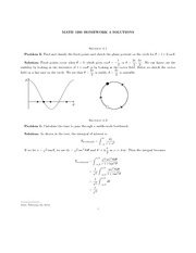 Homework Solutions on Linear Systems