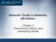 Network+ 6th Edition - Chapter 03