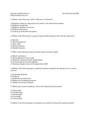 practice final exam pdf - Anatomy and Physiology 2 Final