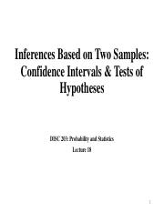 Inference _two samples_ -2