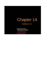 Excel Solutions - Chapter 14