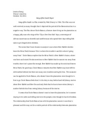 Song of the South Paper