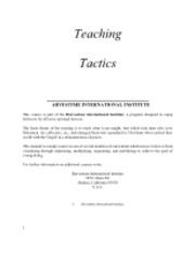 TeachingTactics
