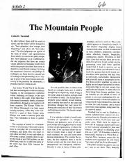 colin turnbull the mountain people 1972