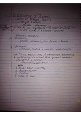 Classification of Theories Notes