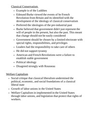 Course Pack History G9 Class Notes Classical Conservatism