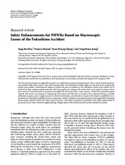 Safety Enhancements for PHWRs Based on Macroscopic Losses of the Fukushima Accident