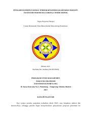 Proposal Skripsi Rachma 1 Docx Pengaruh Disiplin Kerja Terhadap