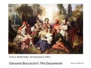 Lecture 23 The Decameron.ppt