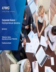 Business valuation - comparable approach 21 03 2016