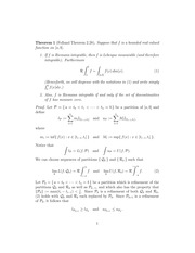 Riemann Integral Worksheet