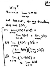 MATH 10101 Fall 2008 Limits at Infinity Lecture Notes