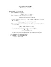 Econ 281 Spring 2012 Problem Set 2 - Solutions