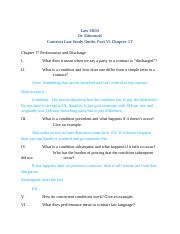 Law 3800, Contract Law Study Guide, Part VI Chapter 17 F13.docx