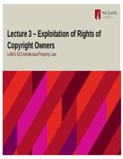 Lecture 3 Rights of Copyright Owners File.pptx