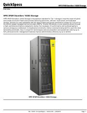 HPE 3PAR Software Products pdf - QuickSpecs HPE 3PAR Software