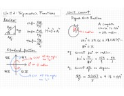Unit 2 Trigonometric Functions Notes