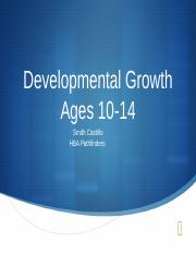 Developmental Growth