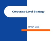 Corporate-Level Strategy (Acquisitions and Restructuring)
