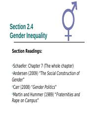 2.4 Gender Inequality