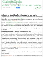 Johnson's algorithm for All-pairs shortest paths - GeeksforGeeks.pdf