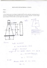 Midterm Exam 1 Solution Fall 2014 on Mechanics of Materials