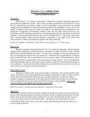 Physics_111_Laboratory+Guidelines