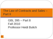 Contracts and Sales Part 2