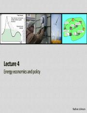 Lecture 04 - Energy Economics and Policy