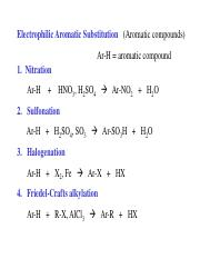 12. Electrophilic Aromatic Substitution
