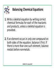 Balancing Equations Slides