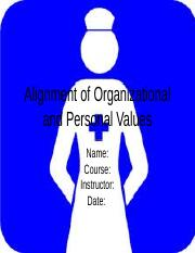 Alignment of Organizational and Personal Values.ppt