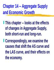 ECN 203 (14), Aggregate Supply Changes and the Economy.ppt