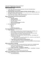 GNUR 293 Pathophysiology Study Guide Exam 3.docx