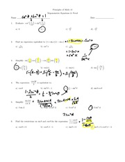 Trig Equations and Proof Homework