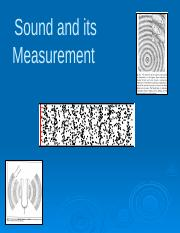 3_Review Sound and its Measurement(3)