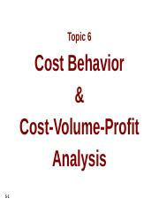 ACC 3208 Topic6_G_ Cost Volume Profit Analysis.pptx