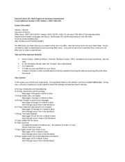 Fall 2014 CC 101 Section 1 Syllabus