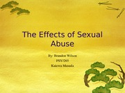 effects of sexual abuse