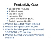 Productivity Quiz 2 key