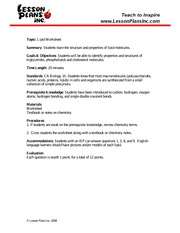 lipid_ws - www.LessonPlansInc.com Topic Lipid Worksheet ...