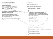 SlideSet 22 - File Reading-Writing(1)