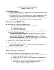 COMM 1200 Midterm study guide