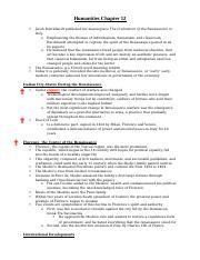 Humanities Chapter 12 Notes