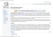 Self-referential humor - Wikipedia, the free encyclopedia