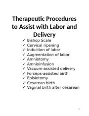 Therapeutic Procedures to Assist with Labor and Delivery.docx