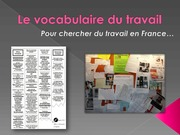 French Vocabulary of Work