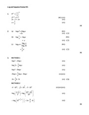 IB Math Year 1 Logs and Sequences Review Answers